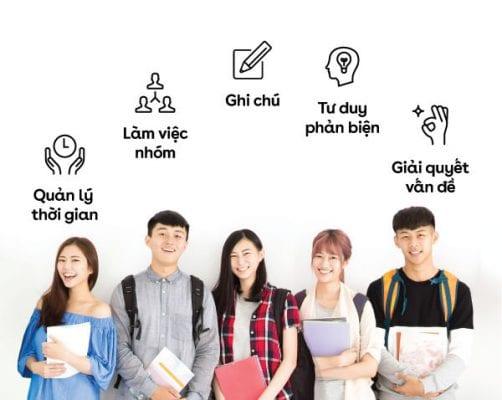 Ứng dụng các kĩ năng làm việc trong học tập