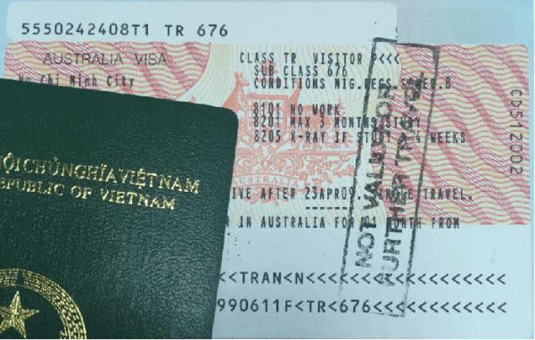 xin visa để đi sang Úc thăm người thân