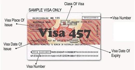 visa úc 457