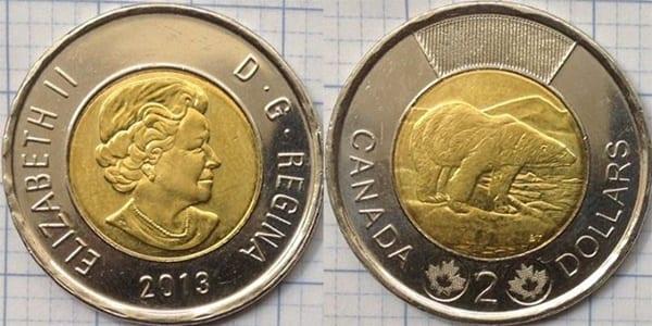 tiền xu canada