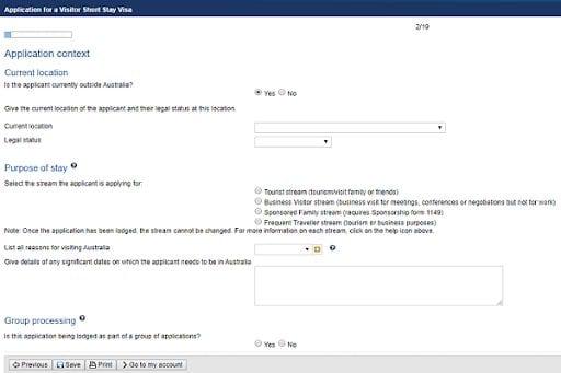 hồ sơ xin visa úc online