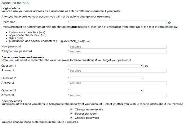 hướng dẫn khai visa úc online