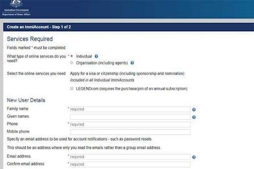 Làm visa úc online