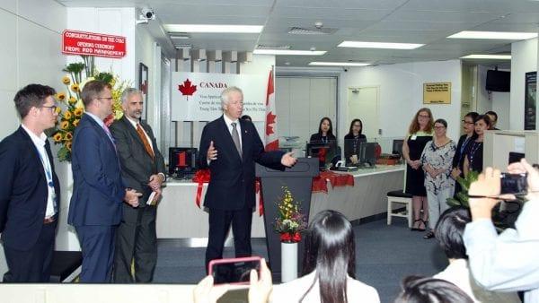 Phòng tiếp nhận hồ sơ xin thị thực Canada