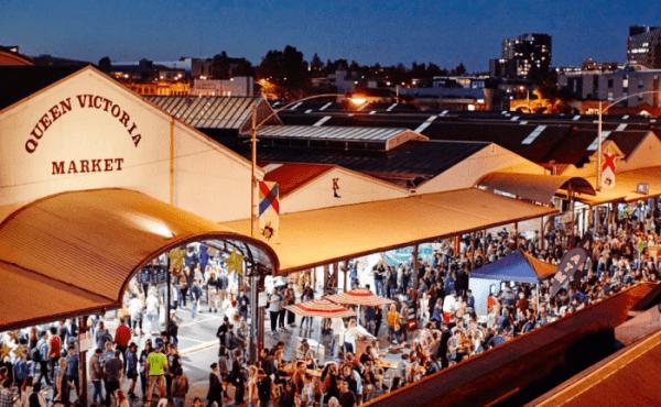 Chợ Queen Victoria có quy mô rất lớn hơn 600 chủ thương