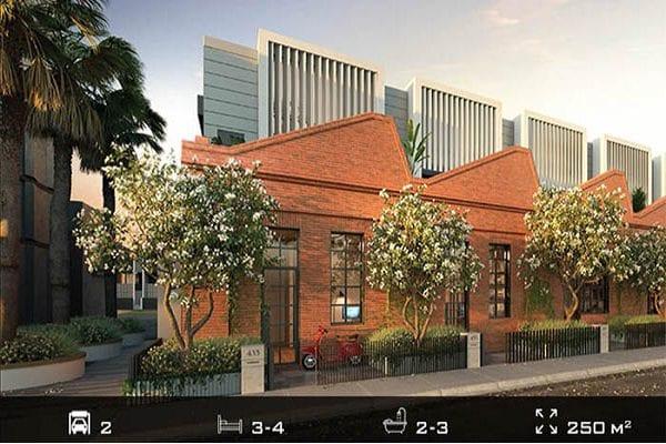 Gordon Rise là dự án gồm 18 căn nhà phố và dãy shophouse