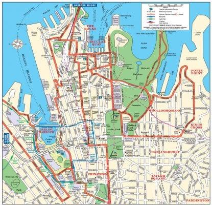 Bản đồ thành phố Sydney