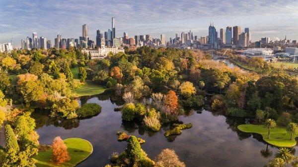 ¼ diện tích thành phố này là công viên