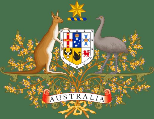 Trên quốc huy Úc là hình ảnh của loài chuột túi Kangaroo và đà điểu Emo