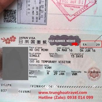 số visa nhật nằm ở đâu, số visa nằm ở đâu, số thẻ visa nhật nằm ở đâu