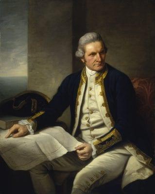 Thuyền trưởngJames Cook- Người tìm là nước Úc và mang sự sống con người tới quốc gia này